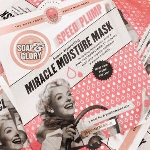 25 soap & glory speed plump miracle mositure masks